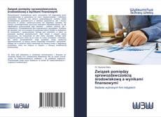 Bookcover of Związek pomiędzy sprawozdawczością środowiskową a wynikami finansowymi