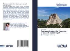 Buchcover von Poznawanie sekretów Kosmosu w czasach starożytnych