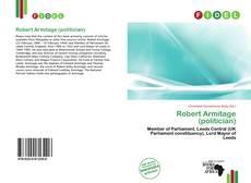 Portada del libro de Robert Armitage (politician)