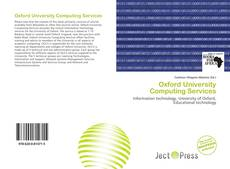 Bookcover of Oxford University Computing Services
