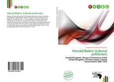 Bookcover of Harold Baker (Liberal politician)