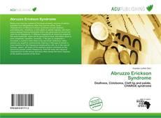 Bookcover of Abruzzo Erickson Syndrome