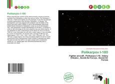 Bookcover of Polikarpov I-180