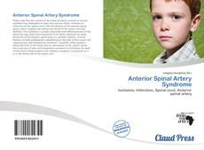 Bookcover of Anterior Spinal Artery Syndrome
