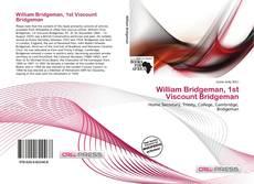 Buchcover von William Bridgeman, 1st Viscount Bridgeman
