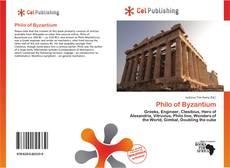 Borítókép a  Philo of Byzantium - hoz