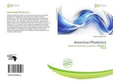 Bookcover of American Photonics