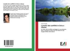 L'analisi dei conflitti in Siria e Libano kitap kapağı
