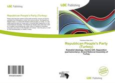 Republican People's Party (Turkey) kitap kapağı