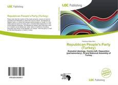 Portada del libro de Republican People's Party (Turkey)