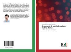 Bookcover of Argomenti di specializzazione, matrici dense
