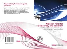 Bookcover of Nigerien Party for Democracy and Socialism