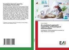 Capa do livro de An analytical approach supporting archaeological reconstruction