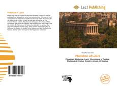 Portada del libro de Philistion of Locri