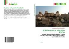 Couverture de Publius Aelius Vibullius Rufus
