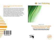 Buchcover von Ontario New Democratic Party Leadership Election, 2009