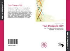 Portada del libro de Tour d'Espagne 1980