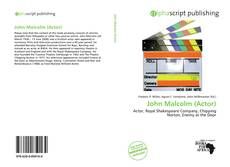 Bookcover of John Malcolm (Actor)
