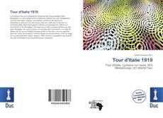 Capa do livro de Tour d'Italie 1919