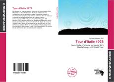 Capa do livro de Tour d'Italie 1975