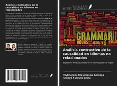 Capa do livro de Análisis contrastivo de la causalidad en idiomas no relacionados