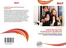 Bookcover of Lethal Congenital Contracture Syndrome