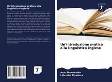 Buchcover von Un'introduzione pratica alla linguistica inglese