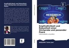 Capa do livro de Empfindlichkeit und Robustheit einer Stichprobe und passender Paare