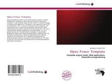 Capa do livro de Open Power Template
