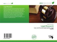 Portada del libro de Legal Research