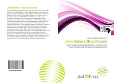 Bookcover of John Baker (UK politician)
