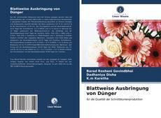 Blattweise Ausbringung von Dünger kitap kapağı
