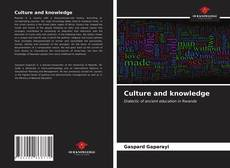 Bookcover of Culture and knowledge