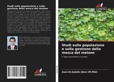 Portada del libro de Studi sulla popolazione e sulla gestione della mosca del melone