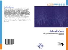 Bookcover of Galina Kofman