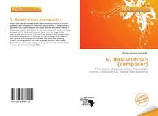 Portada del libro de S. Balakrishnan (composer)