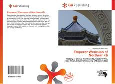 Bookcover of Emperor Wenxuan of Northern Qi