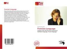 Francien Language kitap kapağı