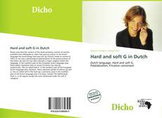 Capa do livro de Hard and soft G in Dutch