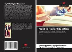 Bookcover of Right to Higher Education