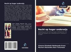 Buchcover von Recht op hoger onderwijs