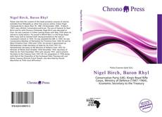 Bookcover of Nigel Birch, Baron Rhyl