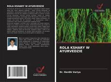 ROLA KSHARY W AYURVEDZIE kitap kapağı
