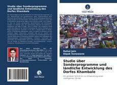 Buchcover von Studie über Sonderprogramme und ländliche Entwicklung des Dorfes Khambale