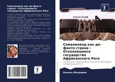 Bookcover of Сомалиленд как де-факто страна - Отколовшееся государство Африканского Рога