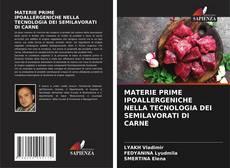 Buchcover von MATERIE PRIME IPOALLERGENICHE NELLA TECNOLOGIA DEI SEMILAVORATI DI CARNE