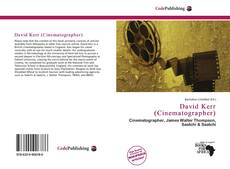 Bookcover of David Kerr (Cinematographer)