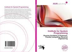 Portada del libro de Institute for System Programming