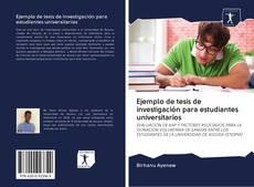 Portada del libro de Ejemplo de tesis de investigación para estudiantes universitarios