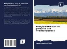 Buchcover von Energie-eisen voor de productie van koolzaadbiodiesel